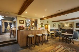 The bar at The Kingham Plough